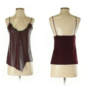 Zara faux leather tank with lace lining